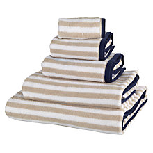 Buy John Lewis Coastal Stripe Dune Towels, Putty Online at johnlewis.com