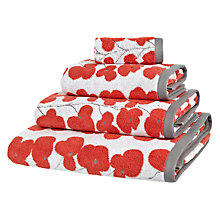 Buy John Lewis Wallflower Towels, Flame Online at johnlewis.com