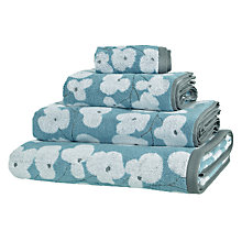 Buy John Lewis Wallflower Towels, Scandi Blue Online at johnlewis.com