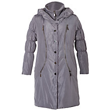 Buy Chesca Chalk Padded Coat, Grey Online at johnlewis.com