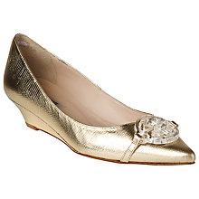 Buy L.K. Bennett Taylor Lizard Effect Leather Court Shoes, Soft Gold Online at johnlewis.com