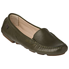 Buy L.K. Bennett Gail Driving Leather Shoes, Khaki Online at johnlewis.com