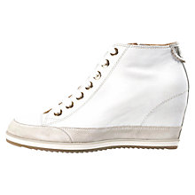 Buy Geox D Illusion Wedge Trainer, White Online at johnlewis.com