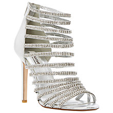 Buy Dune Heartshine Heeled Sandals, Silver Online at johnlewis.com