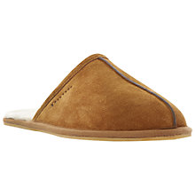 Buy Dune Flintoff Fur Lined Mule Slippers, Brown Online at johnlewis.com