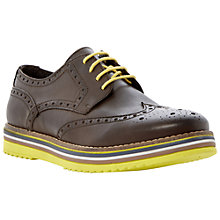 Buy Bertie Bumbled Leather Brogues, Brown Online at johnlewis.com