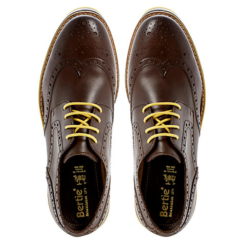Buy Bertie Bumbled Leather Brogues Online at johnlewis.com