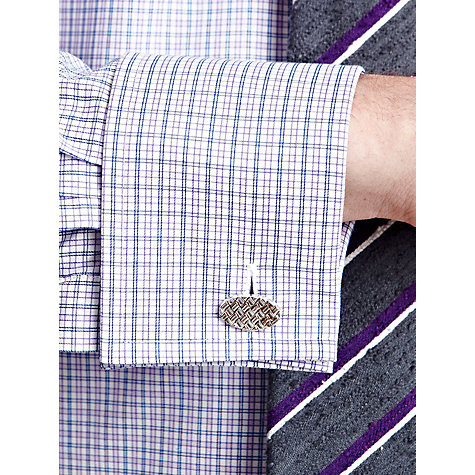 Buy Thomas Pink Luckin Check Shirt, Purple/White Online at johnlewis.com
