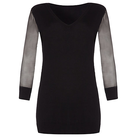 Buy Damsel in a dress Sandalwood Knitted Top, Black Online at johnlewis.com