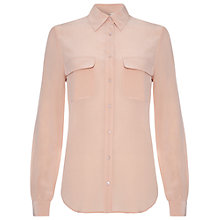 Buy Damsel in a dress Canvas Silk Shirt, Blush Online at johnlewis.com