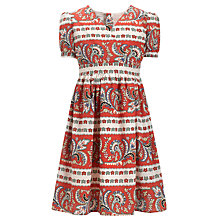 Buy Somerset By Alice Temperley Girls' Patterned Border Dress, Multi Online at johnlewis.com