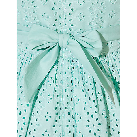 Buy John Lewis Girl Peter Pan Collar Broderie Dress, Aqua Online at johnlewis.com