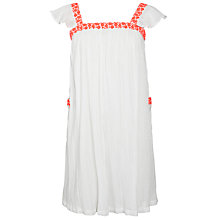 Buy Loved & Found Girls' Neon Embroidered Cheesecloth Dress, White Online at johnlewis.com