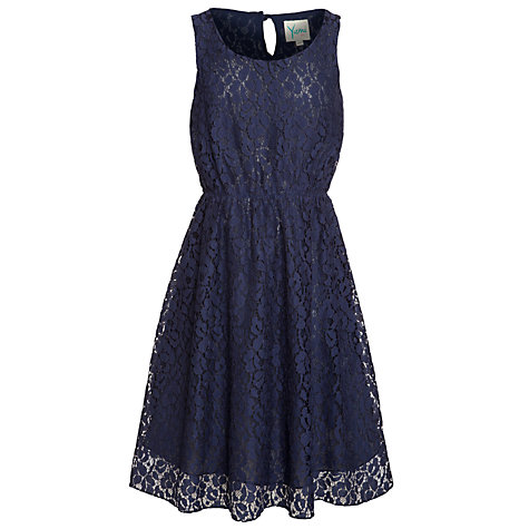 Buy Yumi Girl Lace Dress, Blue Online at johnlewis.com