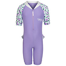 Buy Platypus Girls' Rose Surf Suit, Lilac Online at johnlewis.com