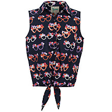 Buy Yumi Girl Glasses Print Shirt, Navy Online at johnlewis.com