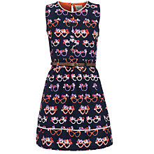 Buy Yumi Girl Glasses Print Dress, Navy Online at johnlewis.com