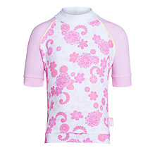 Buy Platypus Paisley Short Sleeve Floral Rash Vest, Pink Online at johnlewis.com