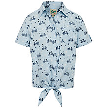 Buy Yumi Girl Bike Print Shirt, Blue Online at johnlewis.com
