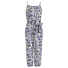 Buy Somerset by Alice Temperley Girls' Meadow Print Jumpsuit, Navy Online at johnlewis.com