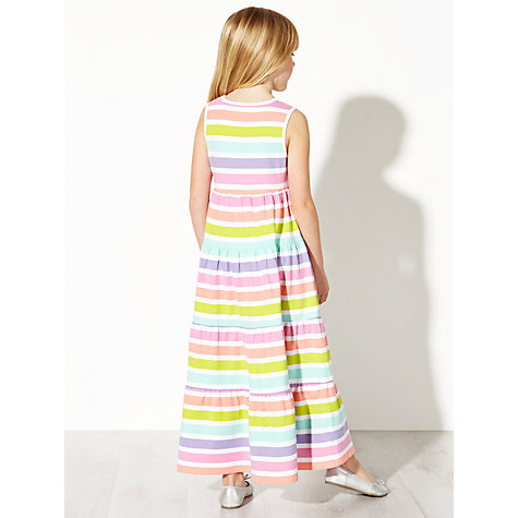 Buy John Lewis Girl Stripe Maxi Dress, Multi Online at johnlewis.com