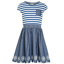 Buy Yumi Girl Chambray Dress, Navy Online at johnlewis.com