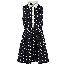 Buy Yumi Girl Spot Shirt Dress, Navy Online at johnlewis.com