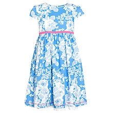 Buy John Lewis Girl Bold Flowers Dress, Blue Online at johnlewis.com