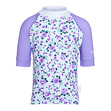 Buy Platypus Roses Short Sleeve Floral Sunshirt, Lilac Online at johnlewis.com