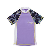 Buy Platypus Bird Print Short Sleeve Sunshirt, Purple Online at johnlewis.com