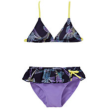 Buy Platypus Tie Dye Birds Bikini, Purple Online at johnlewis.com