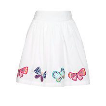 Buy John Lewis Girl Butterfly Applique Skirt, White Online at johnlewis.com