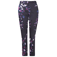 Buy L.K. Bennett Lettie Printed Trousers, Navy Online at johnlewis.com