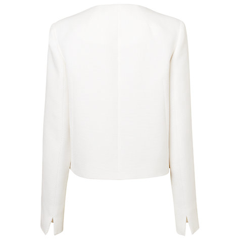 Buy L.K. Bennett Perth Cocoon Jacket, Cream Online at johnlewis.com