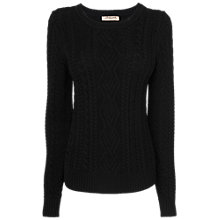 Buy Jaeger London Cable Knitted Jumper, Black Online at johnlewis.com
