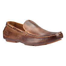 Buy Timberland Heritage Nubuck Driver Venetian Shoes, Brown Online at johnlewis.com