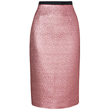 Buy Jaeger London Metallic Skirt, Dark Pink Online at johnlewis.com