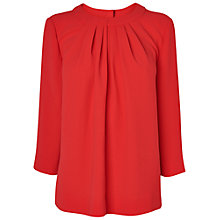 Buy Jaeger Ruched Neck Crepe Top Online at johnlewis.com