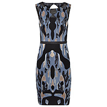 Buy Reiss Zuma Embroidered Devore Dress, Multi Online at johnlewis.com