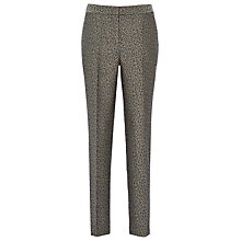 Buy Reiss Paris Textured Animal Slim Leg Trousers, Bronze Online at johnlewis.com