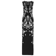 Buy Reiss Zuma Long Devore Dress, Multi Online at johnlewis.com