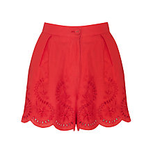 Buy Somerset by Alice Temperley Cotton Shorts, Red Online at johnlewis.com