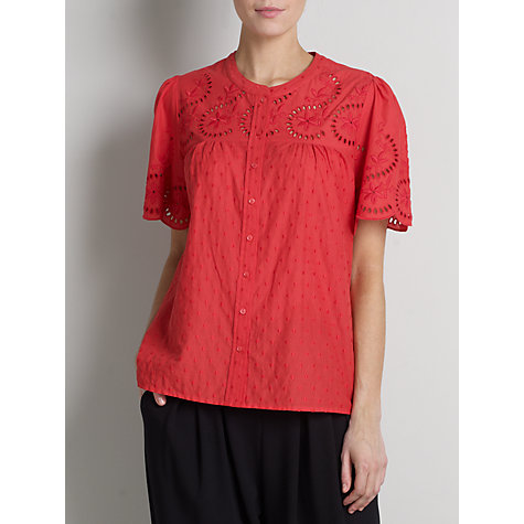 Buy Somerset by Alice Temperley Short Sleeved Embroidered Blouse Online at johnlewis.com