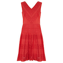 Buy Somerset by Alice Temperley Cotton Dress, Red Online at johnlewis.com
