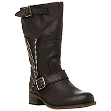 Buy Steve Madden Deziary Calf Boot, Black Online at johnlewis.com