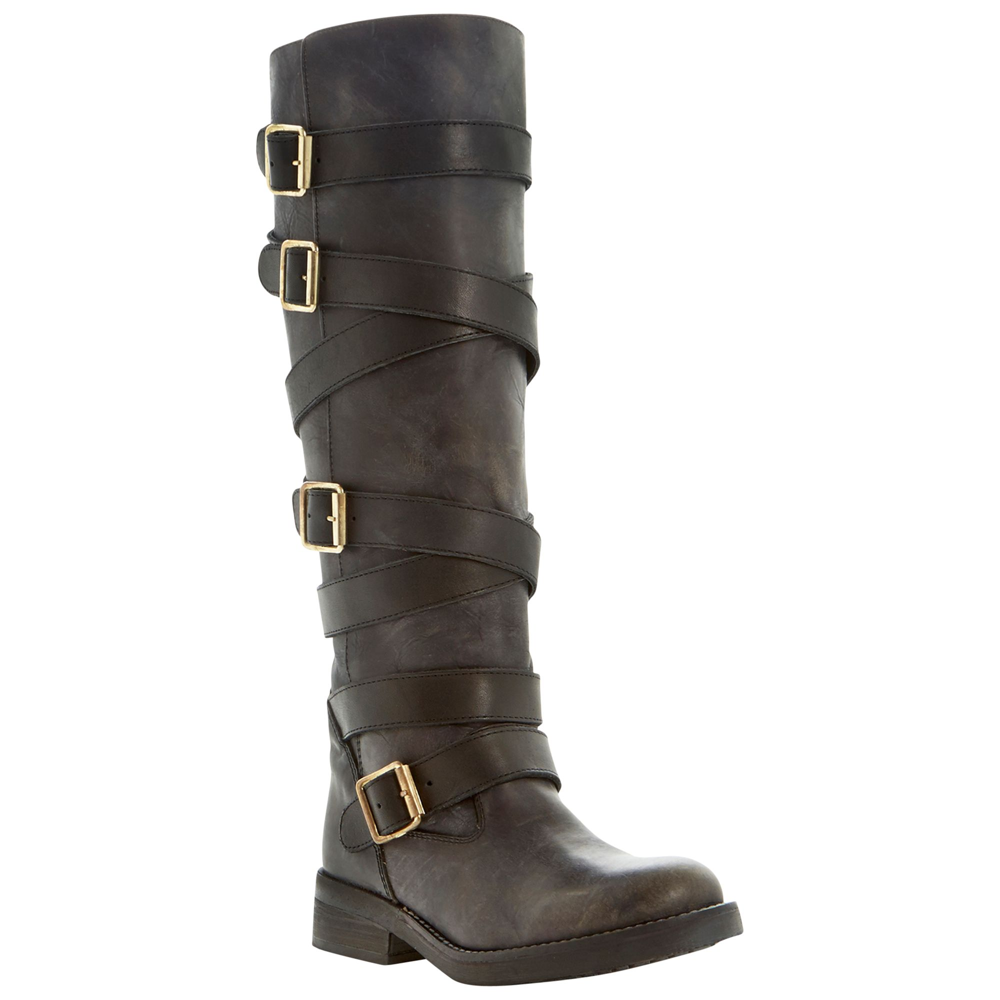 Steve Madden Bryannt Multi-strap Buckle Long Boots, Tan