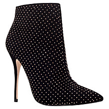 Buy Carvela Gamble Studded Point Toe Ankle Boots, Black Online at johnlewis.com