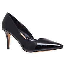 Buy Carvela Abyss Patent Overlapping Court Shoes, Black Online at johnlewis.com