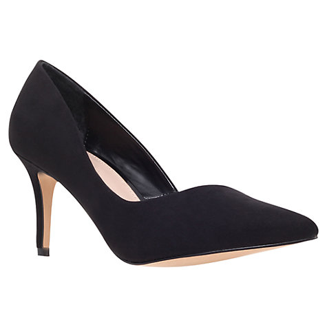 Buy Carvela Abyss Court Shoes Cloned, Suedette Black Online at johnlewis.com