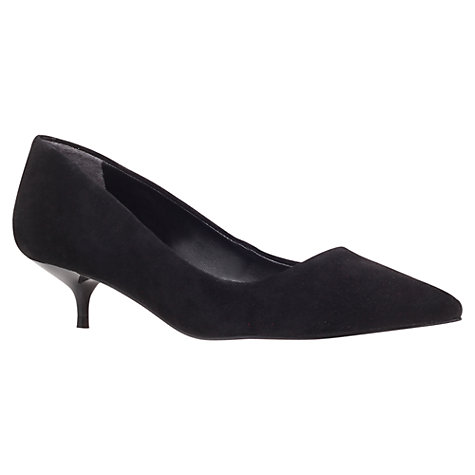 Buy Carvela App Kitten Heel Court Shoes, Black Online at johnlewis.com